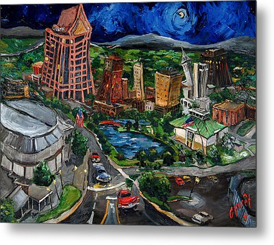 Huntsville Skyline Metal Print by Carole Foret