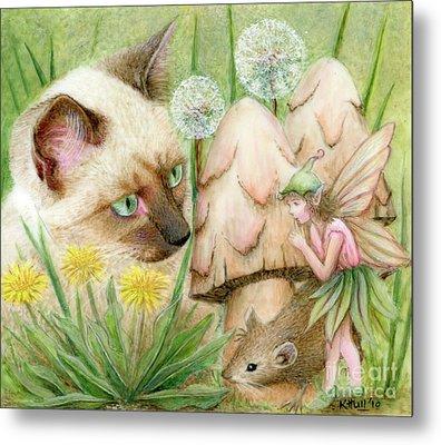 Hush Little Mouse Metal Print by Karen Hull