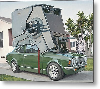 Hybrid Vehicle Metal Print by Scott Listfield