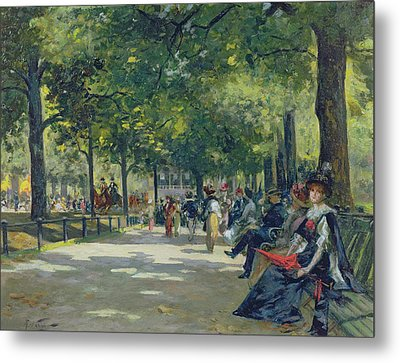 Hyde Park - London  Metal Print by Count Girolamo Pieri Nerli
