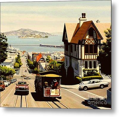 Hyde Street San Francisco Metal Print by Frank Dalton