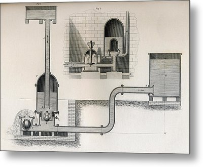Hydraulic Ram, 19th Century. From Metal Print by Vintage Design Pics