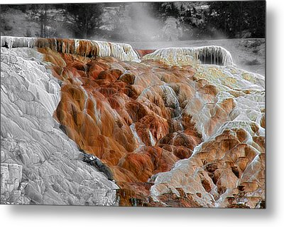 Hymen Terrace Mammoth Hot Springs Yellowstone Park Wy Metal Print by Christine Till