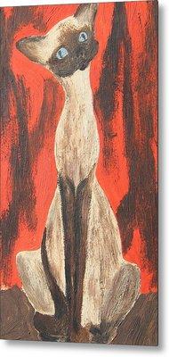I Am A Siamese If You Please Metal Print by Marsha Elliott