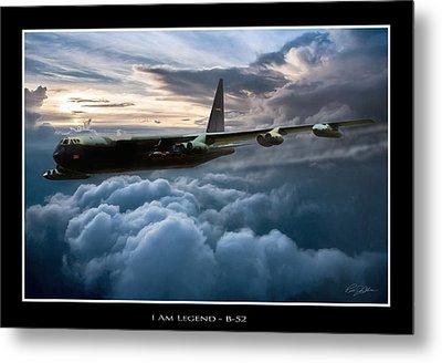 I Am Legend B-52 V2 Metal Print by Peter Chilelli