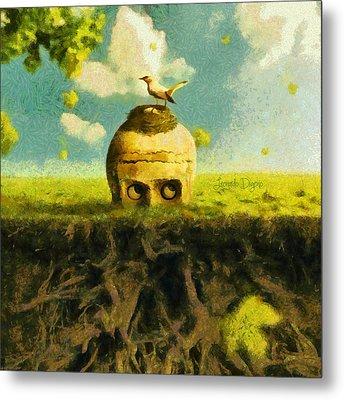 I Can See You Bird - Da Metal Print by Leonardo Digenio