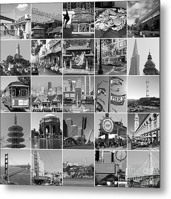 I Left My Heart In San Francisco 20150103bw Metal Print by Home Decor