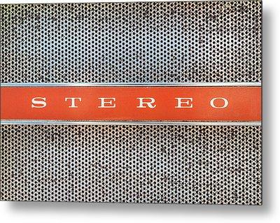 I Love Stereo Metal Print by Martin Bergsma
