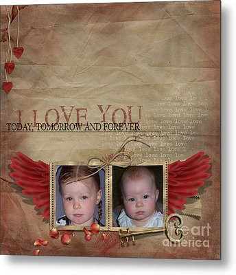 I Love You Metal Print by Joanne Kocwin