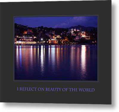 I Reflect On Beauty Of The World Metal Print by Donna Corless