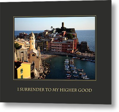 I Surrender To My Higher Good Metal Print by Donna Corless