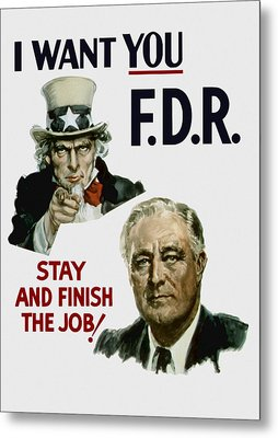 I Want You Fdr  Metal Print by War Is Hell Store