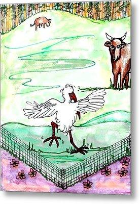 Ibis Hopping Metal Print by Carol Allen Anfinsen