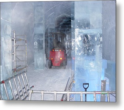 Ice Truck Metal Print by Maria Joy