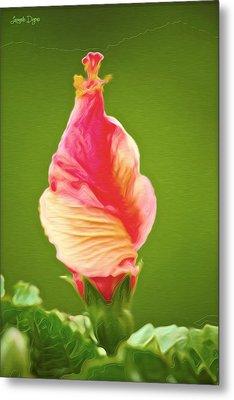 Icea Cream Flower - Pa Metal Print by Leonardo Digenio