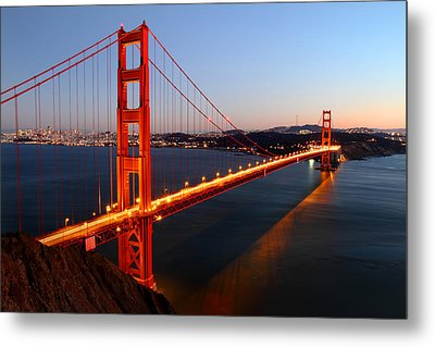 Iconic Golden Gate Bridge In San Francisco Metal Print by Pierre Leclerc Photography