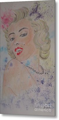Iconic Women.marilyn Munroe Metal Print by Ger Ryan