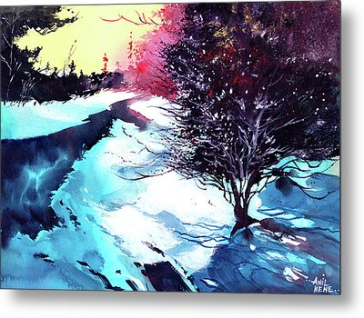 Icy Morning Metal Print by Anil Nene