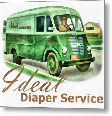 Ideal Diaper Service Painting Metal Print by Edward Fielding