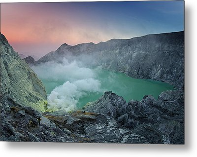 Ijen Crater Metal Print by Alexey Galyzin