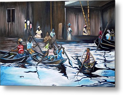 Ilaje Obalende Makoko Metal Print by Olaoluwa Smith