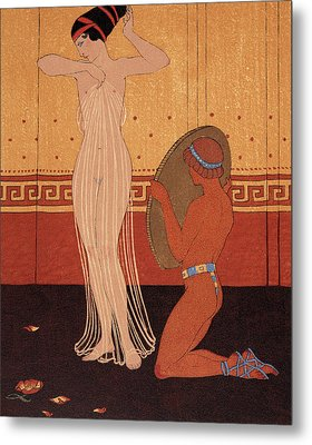 Illustration From Les Chansons De Bilitis Metal Print by Georges Barbier