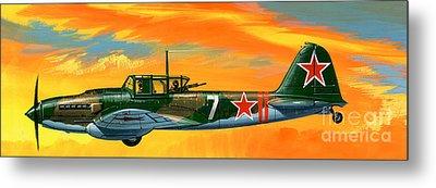 Ilyushin II 2m3 Russian Ground Attack Aircraft Metal Print by Wilf Hardy