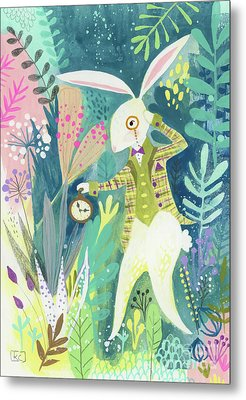 I'm Late Metal Print by Kate Cosgrove
