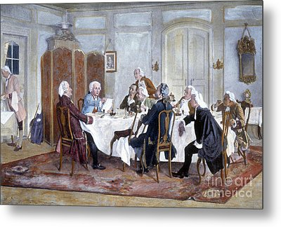 Immanuel Kant And His Comrades Metal Print by Science Source
