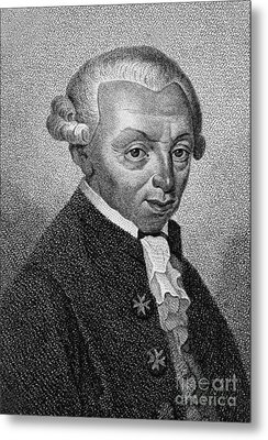 Immanuel Kant, German Philosopher Metal Print by Wellcome Images