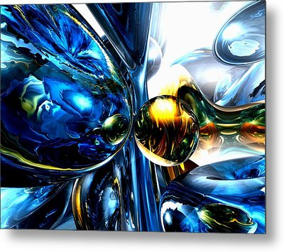 Impassioned Abstract Metal Print by Alexander Butler