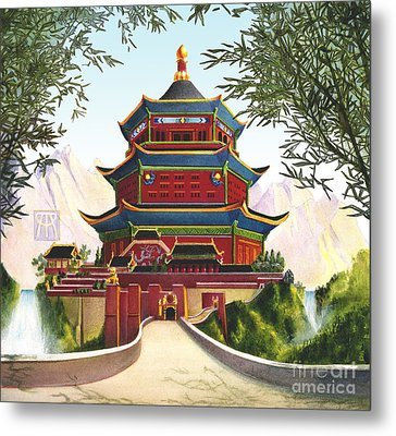 Imperial Palace Metal Print by Melissa A Benson