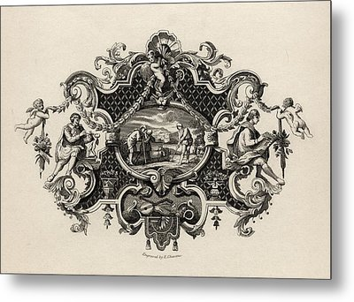 Impression From A Silver Tankard Metal Print by Vintage Design Pics
