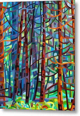 In A Pine Forest Metal Print by Mandy Budan