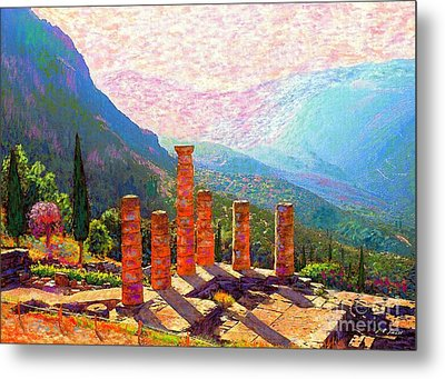 In Awe Of Delphi Metal Print by Jane Small