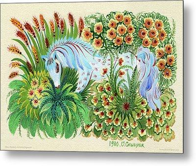 In Fragrant Herbs Metal Print by Olena Kulyk