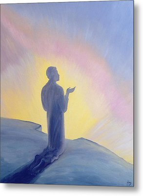 In His Life On Earth Jesus Prayed To His Father With Praise And Thanks Metal Print by Elizabeth Wang