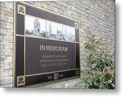 Metal Print featuring the photograph In Memoriam - Ypres by Travel Pics