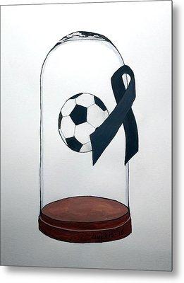 In Memory Of Brazil Chapecoense Soccer Team Metal Print by Edwin Alverio