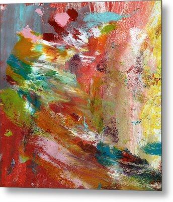 In My Dreams- Abstract Art By Linda Woods Metal Print by Linda Woods
