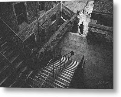 In Pursuit Of The Devil On The Stairs Metal Print by Joseph Westrupp