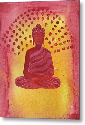 In Search Of Life - Lord Buddha Metal Print by Nayna Tuli Fineart