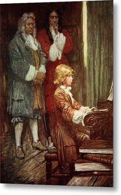 In Silence They Waited While Handel Played Metal Print by Arthur C Michael