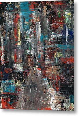 In The City Metal Print by Frances Marino