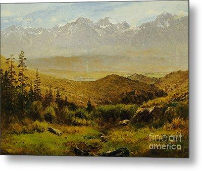 In The Foothills Of The Rockies Metal Print by Albert Bierstadt