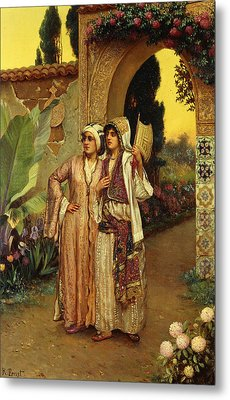 In The Garden Of The Harem Metal Print by Rudolphe Ernst