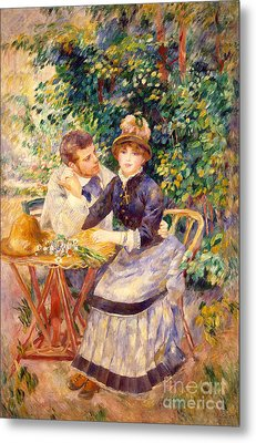 In The Garden Metal Print by Pierre Auguste Renoir