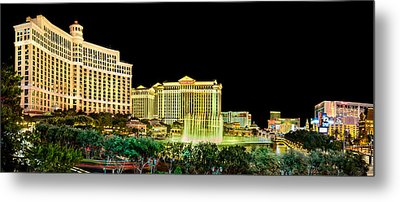 In The Heart Of Vegas Metal Print by Az Jackson