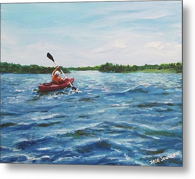 In The Kayak Metal Print by Jack Skinner