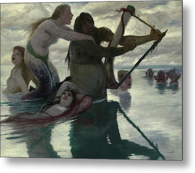 In The Sea Metal Print by Arnold Bocklin